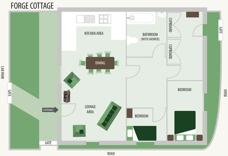 Floorplan for Forge Cottage